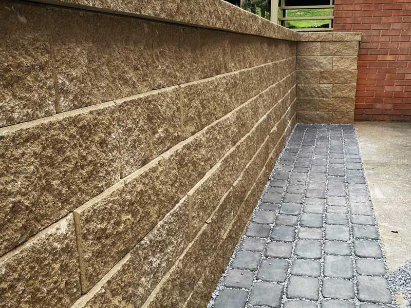 stockman Lawnscape retaining walls